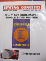 3' x 5' Single Sided LSU Eunice Basketball Flag