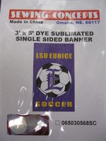 3' x 5' Single Sided LSU Eunice Soccer Flag