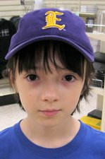 LSUE Purple Youth Baseball Cap w/ Raised Old English E