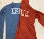 """Hood/LSUE (ivory/distressed)/""""Carson Burnout Thermal""""/Lake/Blue"""